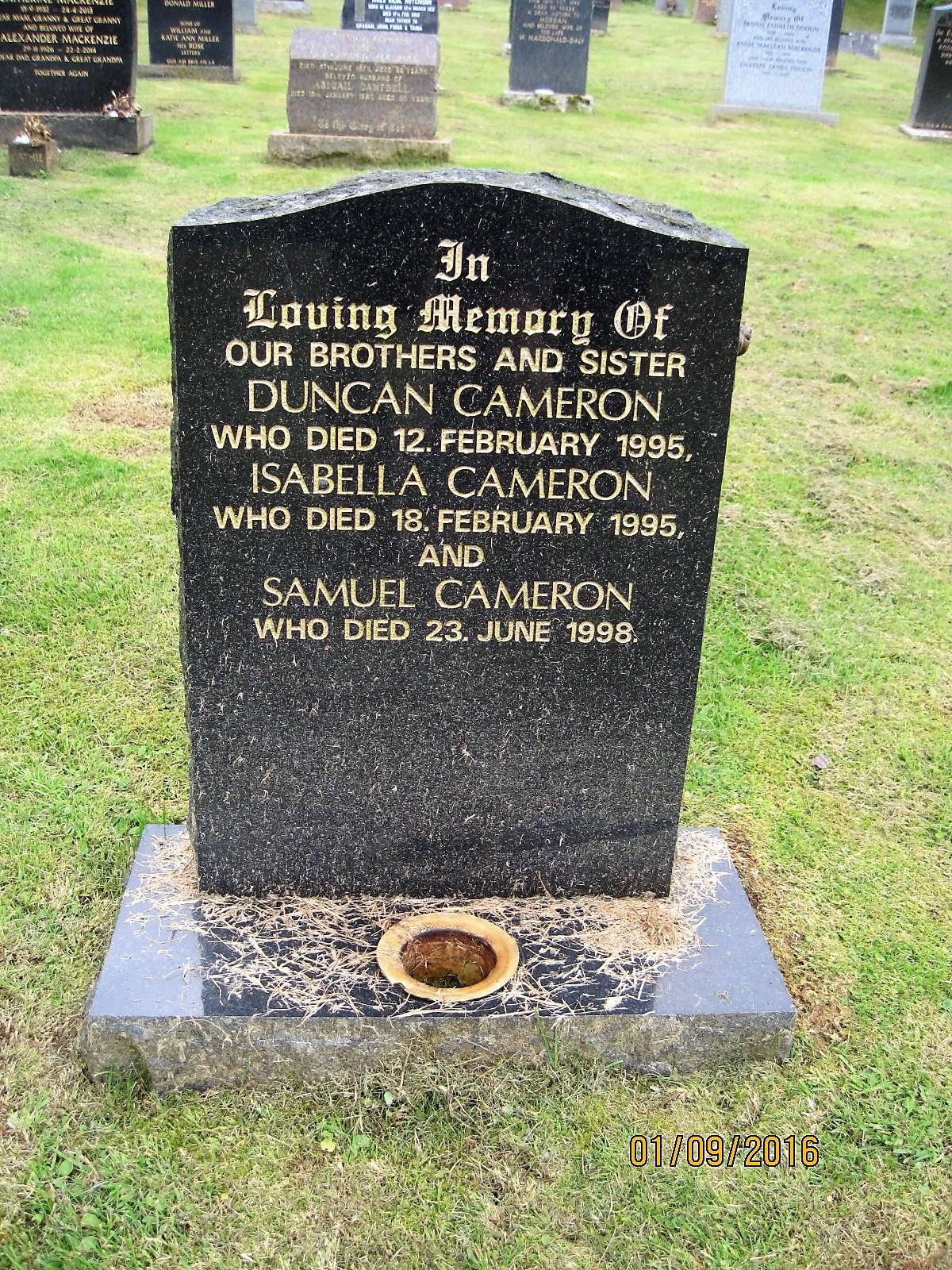 Duncan Cameron 1995
