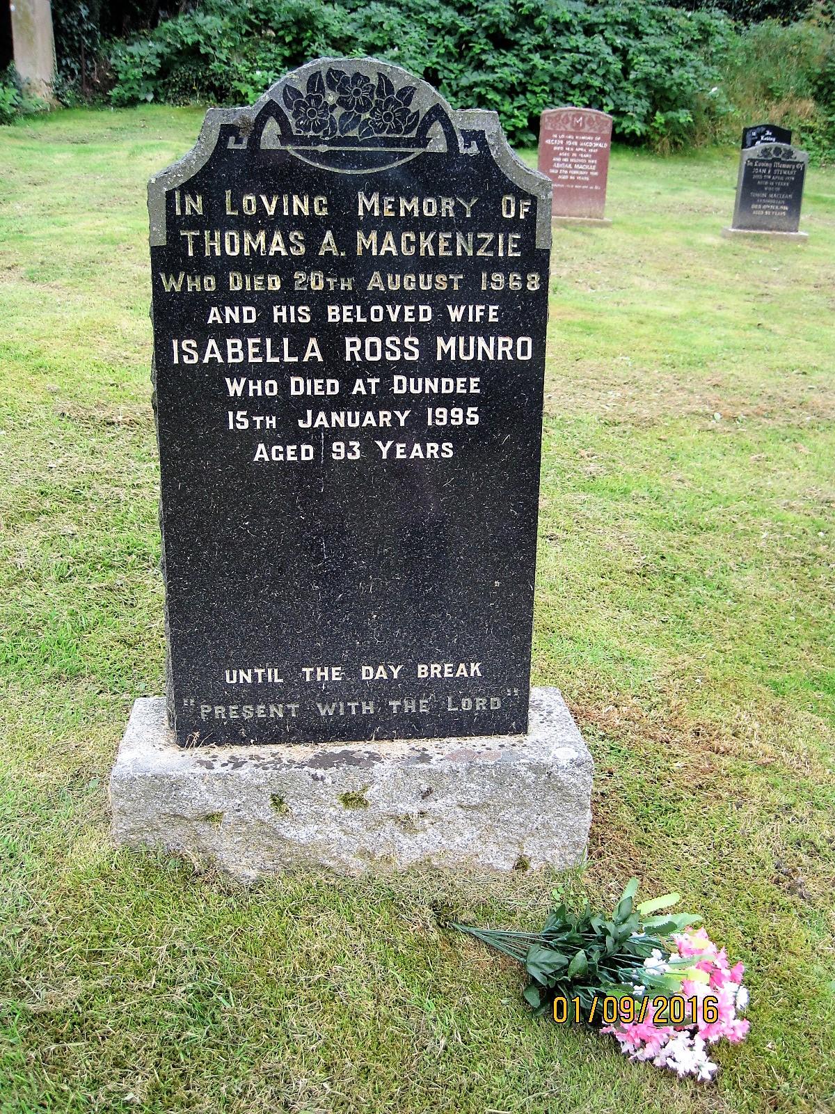 Thomas A Mackenzie 1988