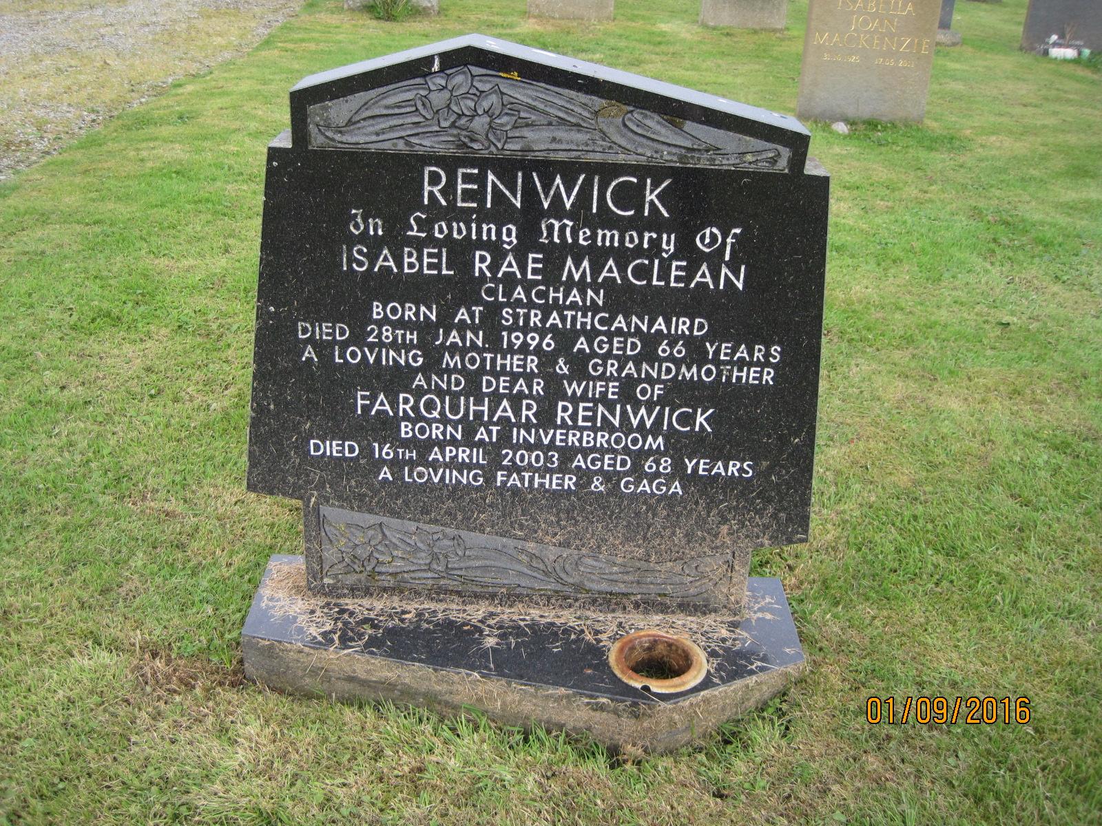 Isabel Rae Maclean 1996