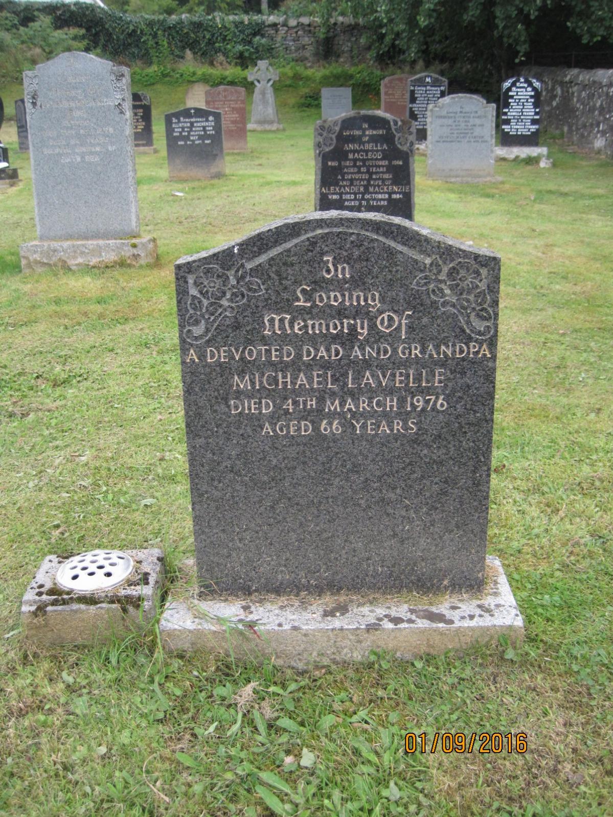 Michael Lavelle 1976