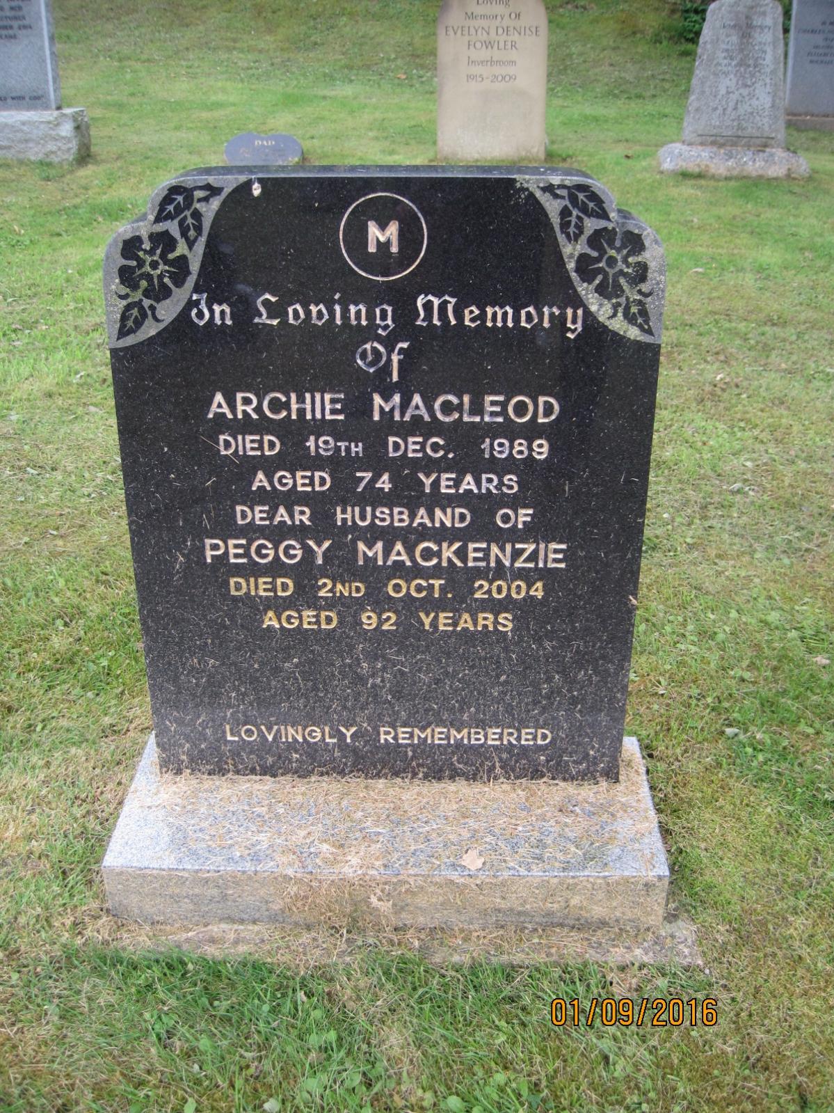 Archie Macleod 1989