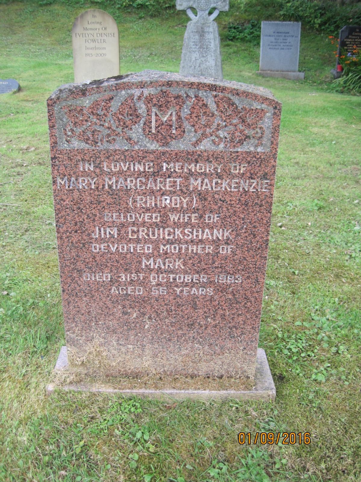 Mary Margaret Mackenzie 1983