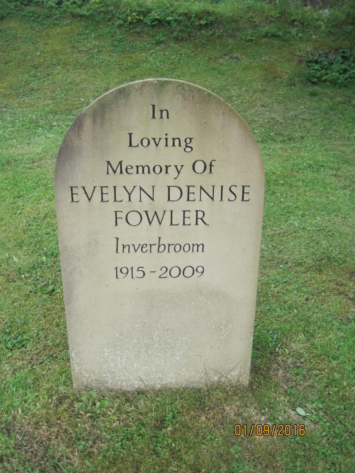 Evelyn Denise Fowler 2009