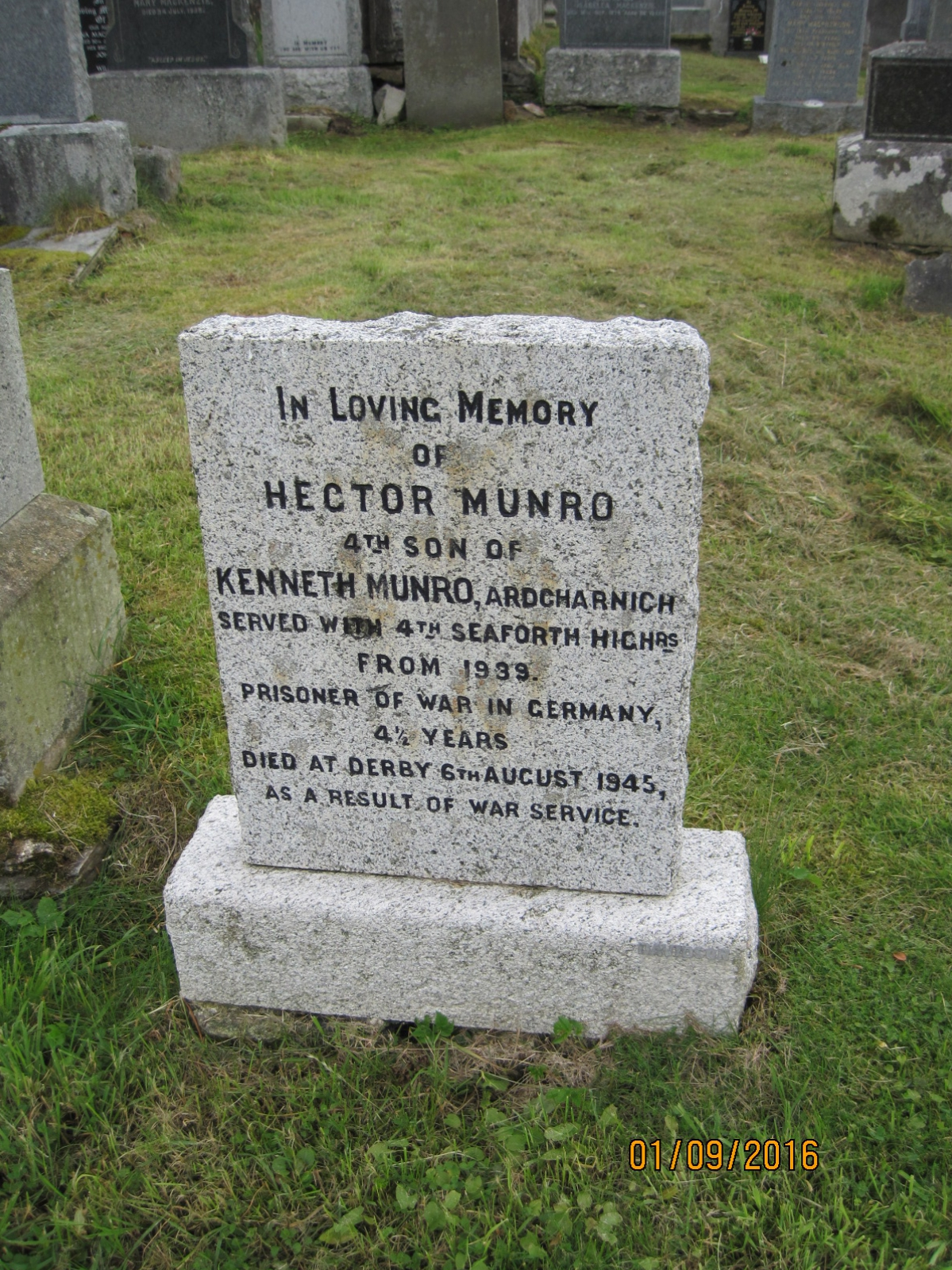 Hector Munro 1945