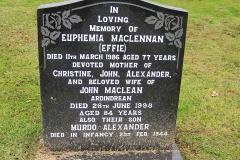 Euphemia 'Effie' Maclennan 1986