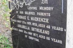 Thomas E Mackenzie 1932, Annabella Sutherland 1977